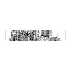 York Cathedral Vector Clipart Flano Scarf (Mini)