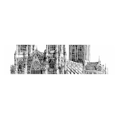 York Cathedral Vector Clipart Satin Scarf (Oblong)