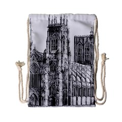 York Cathedral Vector Clipart Drawstring Bag (Small)