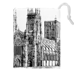 York Cathedral Vector Clipart Drawstring Pouches (XXL)