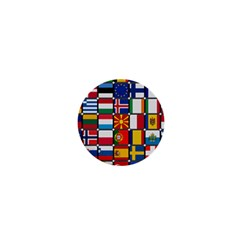Europe Flag Star Button Blue 1  Mini Buttons
