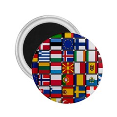 Europe Flag Star Button Blue 2.25  Magnets