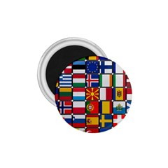 Europe Flag Star Button Blue 1.75  Magnets