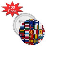 Europe Flag Star Button Blue 1.75  Buttons (100 pack)
