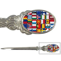 Europe Flag Star Button Blue Letter Openers