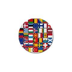Europe Flag Star Button Blue Golf Ball Marker