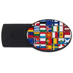 Europe Flag Star Button Blue USB Flash Drive Oval (1 GB)