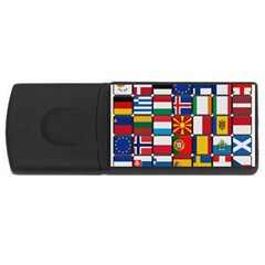 Europe Flag Star Button Blue USB Flash Drive Rectangular (1 GB)