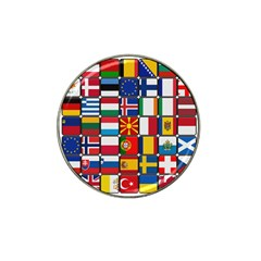 Europe Flag Star Button Blue Hat Clip Ball Marker (4 pack)