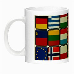 Europe Flag Star Button Blue Night Luminous Mugs