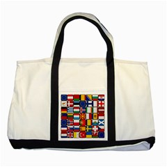 Europe Flag Star Button Blue Two Tone Tote Bag