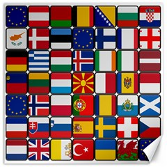 Europe Flag Star Button Blue Canvas 12  x 12
