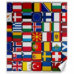 Europe Flag Star Button Blue Canvas 20  x 24