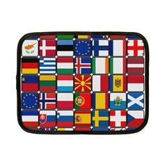 Europe Flag Star Button Blue Netbook Case (Small)