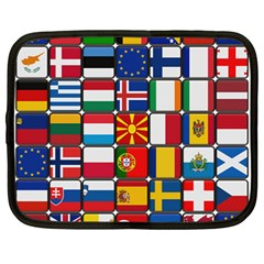 Europe Flag Star Button Blue Netbook Case (Large)
