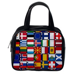 Europe Flag Star Button Blue Classic Handbags (One Side)
