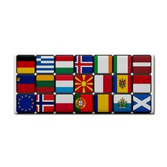 Europe Flag Star Button Blue Cosmetic Storage Cases