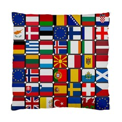 Europe Flag Star Button Blue Standard Cushion Case (Two Sides)