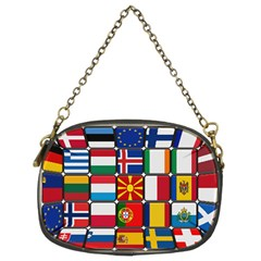 Europe Flag Star Button Blue Chain Purses (Two Sides)
