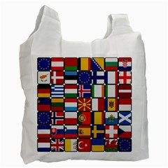 Europe Flag Star Button Blue Recycle Bag (One Side)