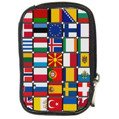 Europe Flag Star Button Blue Compact Camera Cases