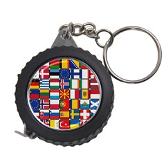 Europe Flag Star Button Blue Measuring Tapes