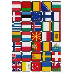 Europe Flag Star Button Blue 5.5  x 8.5  Notebooks