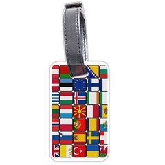 Europe Flag Star Button Blue Luggage Tags (Two Sides)