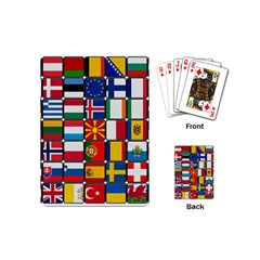 Europe Flag Star Button Blue Playing Cards (Mini)
