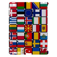 Europe Flag Star Button Blue Apple iPad 3/4 Hardshell Case (Compatible with Smart Cover)