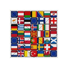 Europe Flag Star Button Blue Acrylic Tangram Puzzle (4  x 4 )