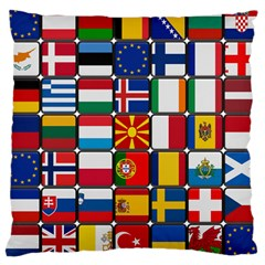 Europe Flag Star Button Blue Large Cushion Case (Two Sides)