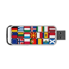 Europe Flag Star Button Blue Portable USB Flash (Two Sides)