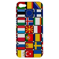 Europe Flag Star Button Blue Apple iPhone 5 Hardshell Case