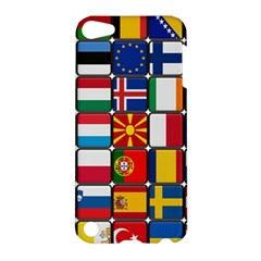 Europe Flag Star Button Blue Apple iPod Touch 5 Hardshell Case