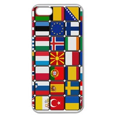Europe Flag Star Button Blue Apple Seamless iPhone 5 Case (Clear)