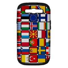 Europe Flag Star Button Blue Samsung Galaxy S III Hardshell Case (PC+Silicone)