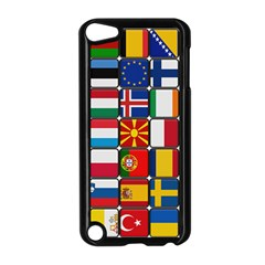 Europe Flag Star Button Blue Apple iPod Touch 5 Case (Black)