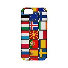 Europe Flag Star Button Blue Apple iPhone 5 Classic Hardshell Case (PC+Silicone)