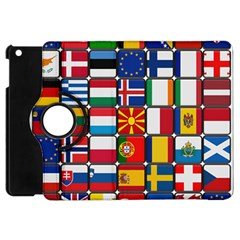 Europe Flag Star Button Blue Apple iPad Mini Flip 360 Case