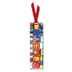 Europe Flag Star Button Blue Small Book Marks