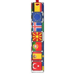 Europe Flag Star Button Blue Large Book Marks