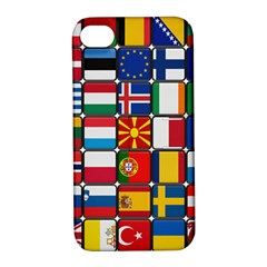 Europe Flag Star Button Blue Apple iPhone 4/4S Hardshell Case with Stand