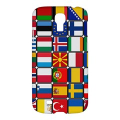Europe Flag Star Button Blue Samsung Galaxy S4 I9500/i9505 Hardshell Case