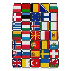 Europe Flag Star Button Blue Flap Covers (L)