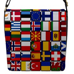 Europe Flag Star Button Blue Flap Messenger Bag (s)