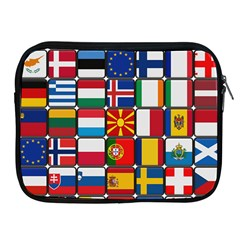 Europe Flag Star Button Blue Apple iPad 2/3/4 Zipper Cases