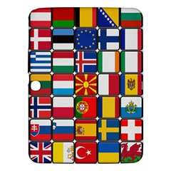 Europe Flag Star Button Blue Samsung Galaxy Tab 3 (10.1 ) P5200 Hardshell Case