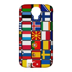 Europe Flag Star Button Blue Samsung Galaxy S4 Classic Hardshell Case (PC+Silicone)