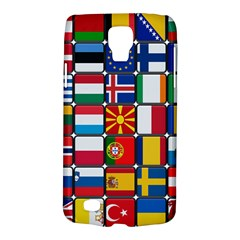 Europe Flag Star Button Blue Galaxy S4 Active